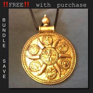 ‼️FREE‼️w purchase BOHO Tibetan Gold necklace NEW